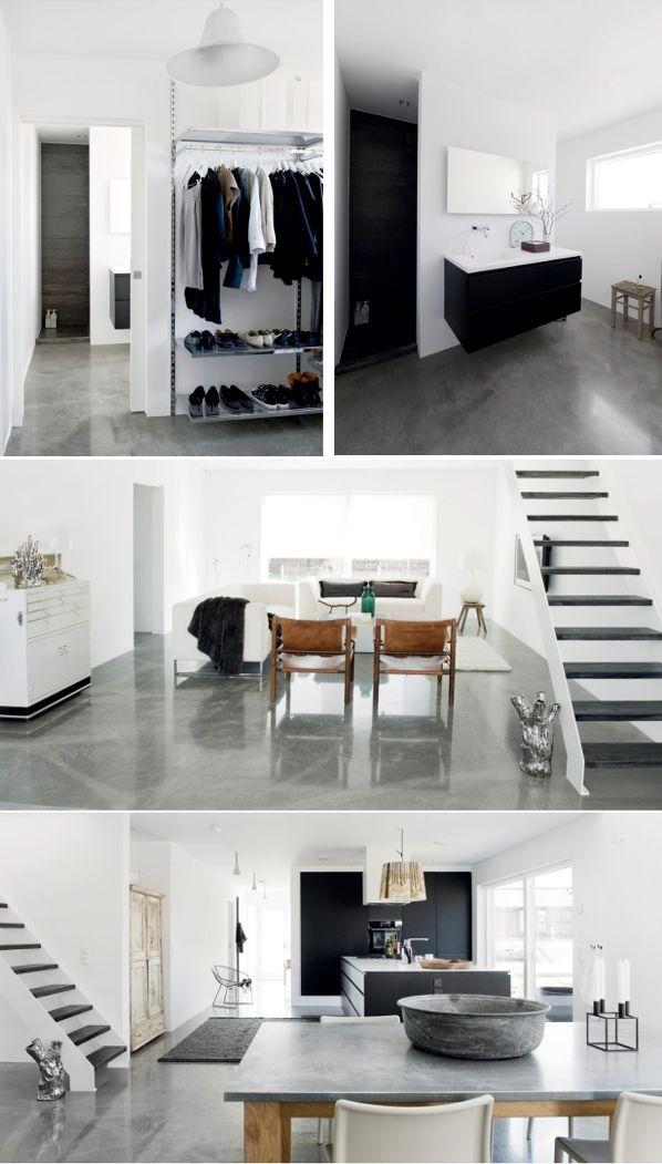 BETONGGOLV - plocka fram golvet i hallen. Concrete floor <3