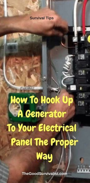 Survival Tips-The following videos will show you how a generator is connected to your house electrical panel. You will learn 2 different ways along with the importance of using a physical inter-locking device to protect you and the utility man. http://www.thegoodsurvivalist.com/how-to-hook-up-a-generator-to-your-electrical-panel-the-proper-way/