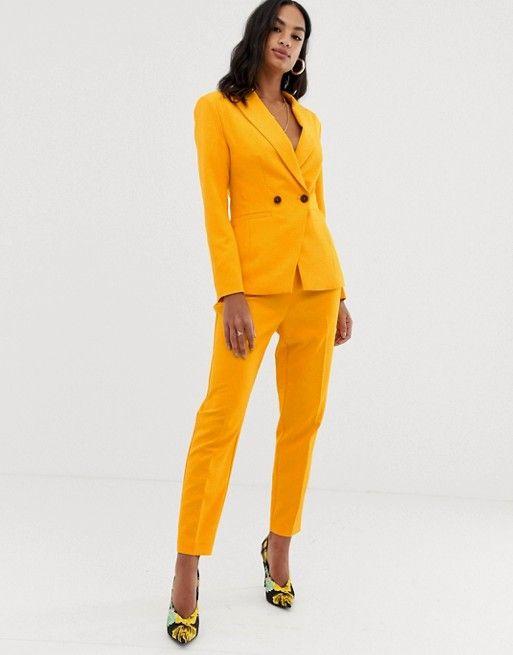 1686c00ec8 DESIGN orange pop suit blazer in 2019 | Wants & Wishes | Women's ...