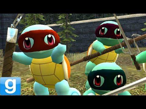 TEENAGE MUTANT NINJA SQUIRTLES! Gmod TMNT Pokemon Mod (Garry's Mod) - YouTube