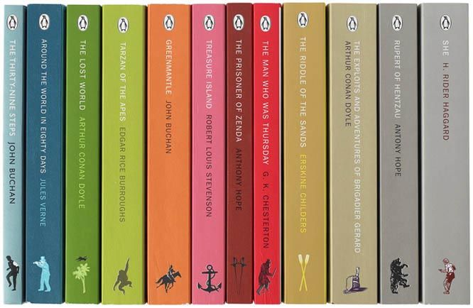 Boys' Adventure Penguin Books Series, Designed by Coralie Bickford-Smith