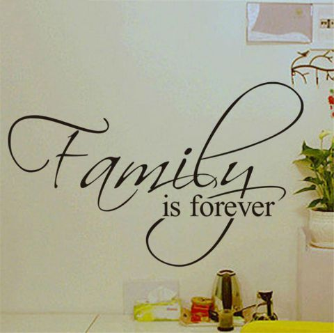 Family Is Forever Quotes Wall Decals Stickers. Create inspirational vibe in your home! Click the link to buy it now