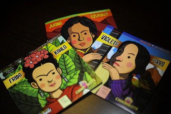 """La serie ya editó las historias de Frida Kahlo, Violeta Parra y Juana Azurduy. """"Queríamos contar mujeres con historias. Y en el camino salió, casi como un chiste, esto de ponerle """"antiprincesas"""": nos dimos cuenta de que nos estábamos oponiendo a las princesas tradicionales"""", contó Nadia Fink, autora de los tres libros."""