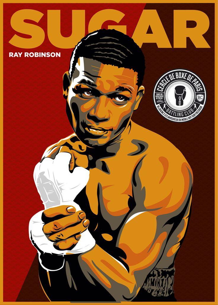 Sugar Ray Robinson Boxing By Christian Zivojinovic