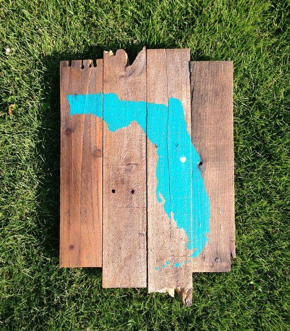 Custom US State Reclaimed Wood Sign