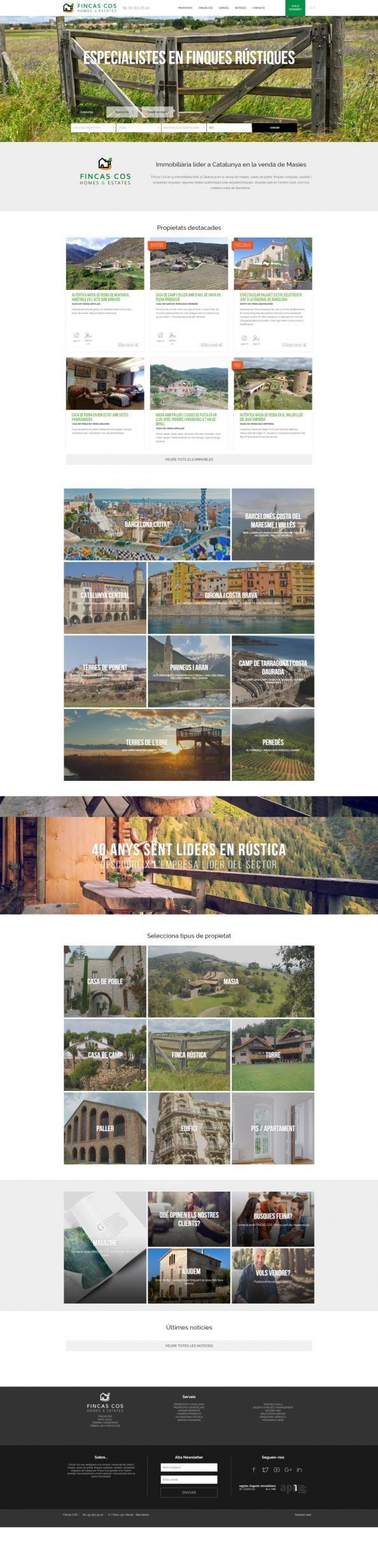 ¡Hola! Os presentamos Fincas Cos, inmobiliaria de masías en venta y fincas rústicas 🏠🏚️🏡. ¡Nos encanta el resultado!   https://www.latevaweb.com/fincas-cos-diseno-web-programacion-y-seo.html