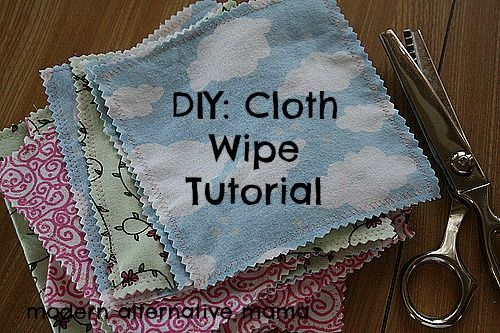 DIY: Cloth Wipes Tutorial - can also alternate for family cloth- a toilet paper replacement.