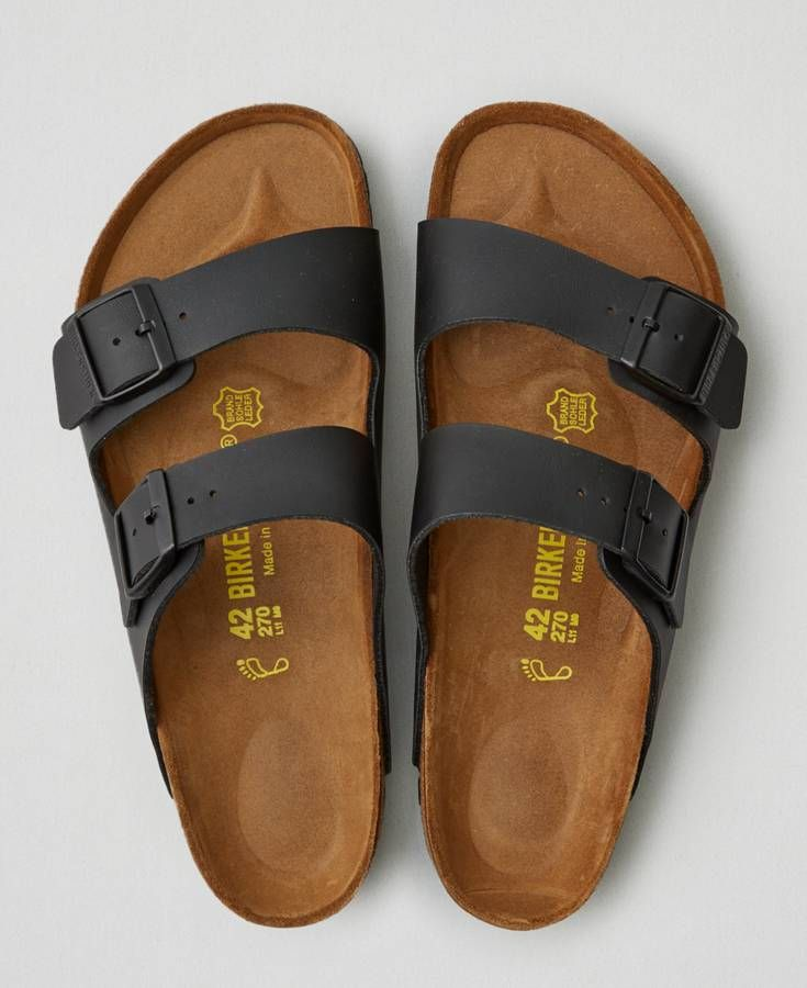 AEO Birkenstock Milano Leather Sandals, Men's, Black