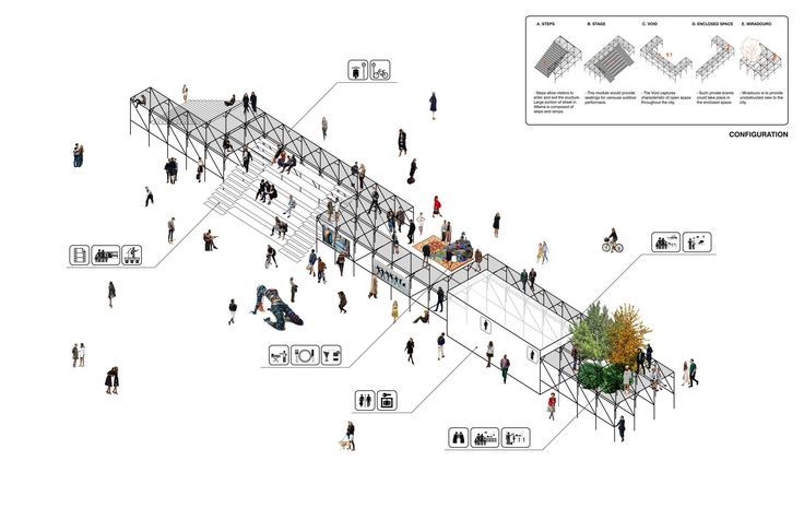 """Gallery - """"Urban Platform"""" Wins First in Lisbon Open Room Competition - 3"""