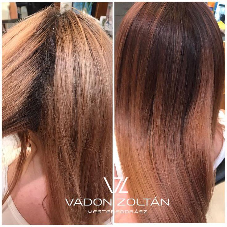 """1 kedvelés, 1 hozzászólás – Vadon Zoltán (@vadon.zoltan) Instagram-hozzászólása: """"Nektek ajánlom a mai megújulást. Egy lenőtt és pár hónapja leszőkített hajat, érdemes így nyár után…"""""""