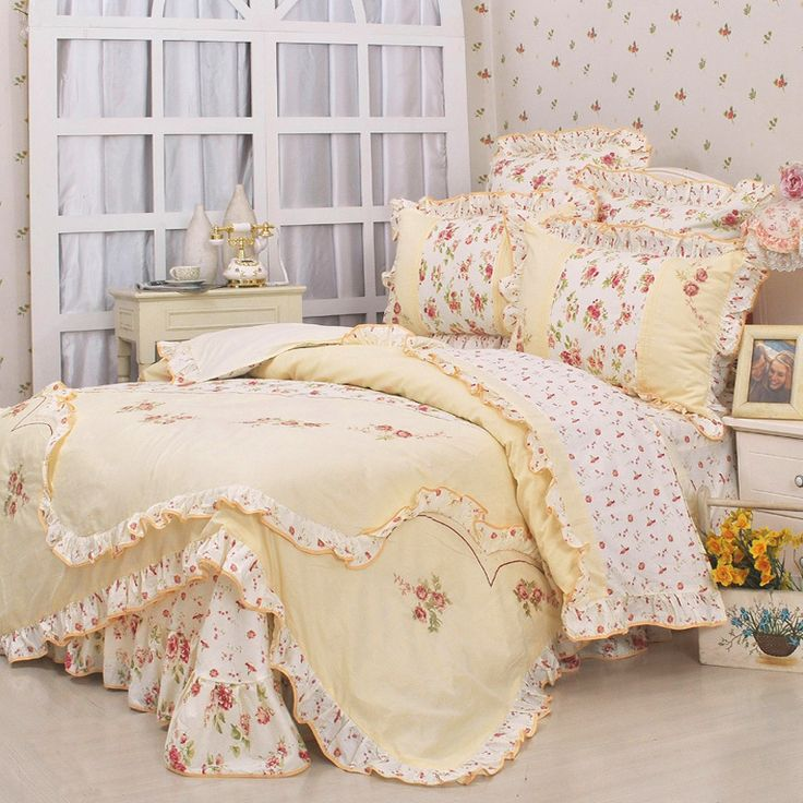 Aliexpress.com : Buy New arrival princess floral ruffle bedding sets,queen king from Reliable Bedding Set suppliers on SaturdayBuy Technology (Beijing) Co., Ltd.