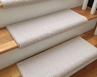 Allure Ivory 100% New Zealand Wool!   TRUE Bullnose Carpet Stair Tread  Runner Replacement
