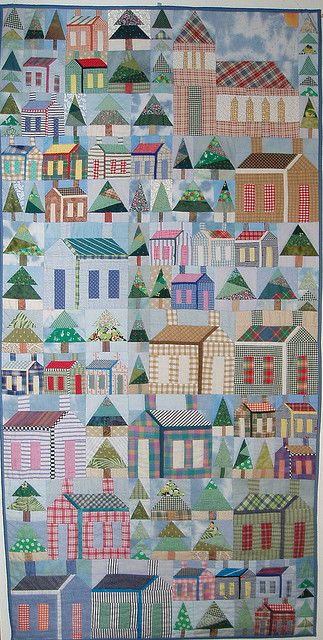 """""""Oh to have a little house"""" by Eibhlin Cullen, Irish Patchwork Society"""
