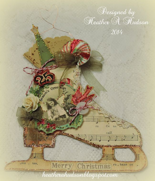 Pretty Mixed Media Skate Ornament - Full Tutorial! - The Graphics Fairy