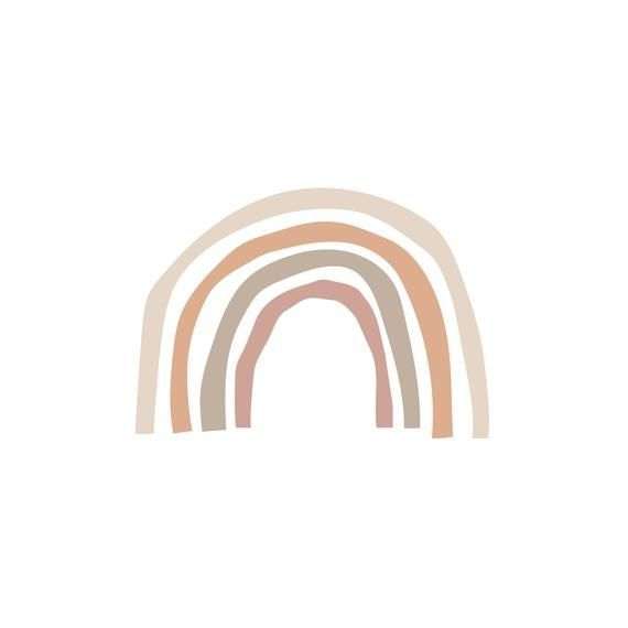 Parker Wallpaper Project Nursery Peach Wallpaper Rainbow Wallpaper Boho Wallpaper