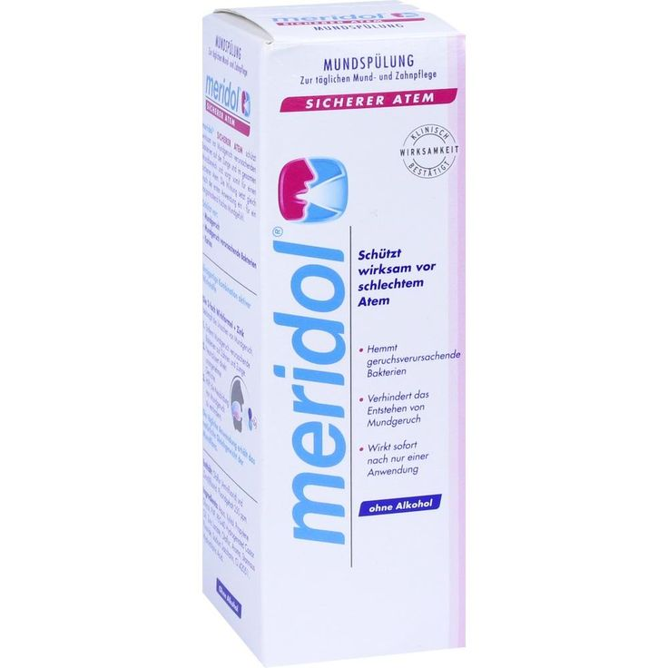 MERIDOL sicherer Atem Mundspülung:   Packungsinhalt: 100 ml Lösung PZN: 11277638 Hersteller: CP GABA GmbH Preis: 2,99 EUR inkl. 19 %…