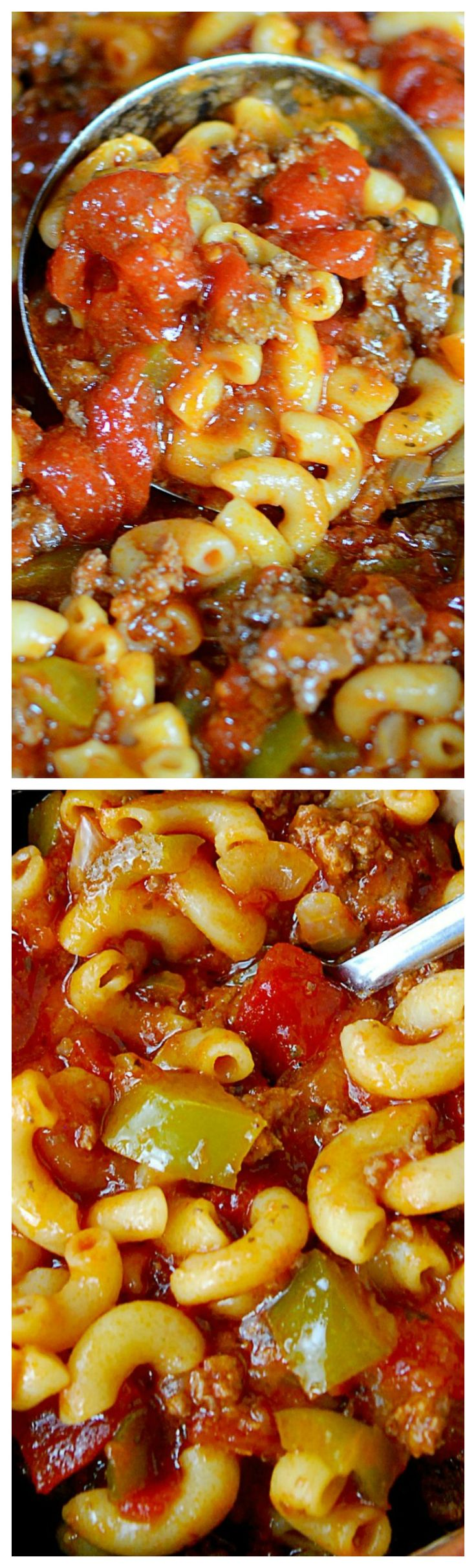 Nana's American Chop Suey ~ It tastes incredible! Our family called the American Style Spaghetti! I love it.  Wow, it appears to be the exact same except we never used Adobo seasoning......