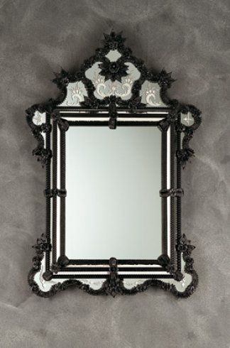 26 best images about black glass on pinterest beijing for Black venetian mirror