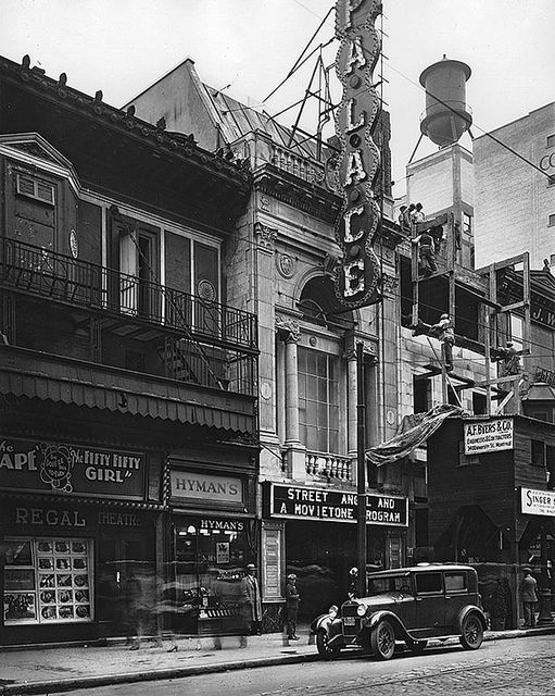 Regal and Palace Theatres, St. Catherine Street, Montréal, QC, about 1927. #1920s #vintage #Canada #streets