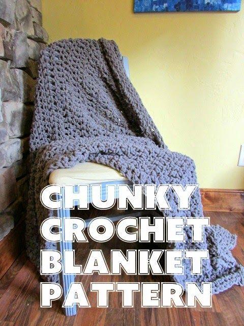 Chunky Crochet Blanket pattern - super simple...all double crochet, 4 skeins of chunky blanket yarn