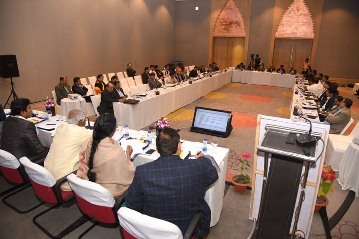 Shri Bandaru Dattatreya ji along with other officials from Ministry of Laboour and Employment participating in the open House discussion with the representatives of Trade Union, Employer Associations, State Governments and Central Government Ministries at Tripartite Committee Meeting in Guwahati.
