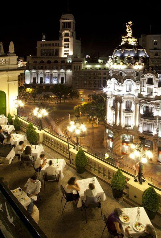 """Madrid...desde la terraza del """"Hotel Ada"""". (GRAN VIA)."""