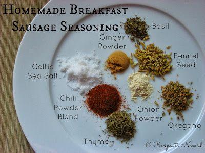 Recipes to Nourish: Homemade Breakfast Sausage Seasoning – sisterbeats