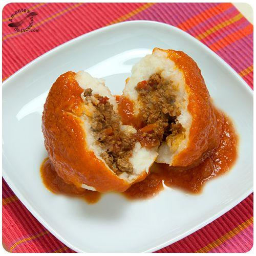#Bollos #pelones rellenos de #carnemolida. http://amantesdelacocina.com/cocina/2012/08/bollos-pelones-rellenos-de-carne-molida/