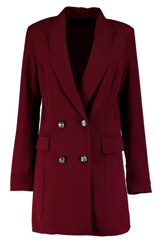 ded5418e9172 Premium Silver Button Longline Blazer   Abigial Premium Button Longline  Blazer   Blazer, Purple jacket, Buttons