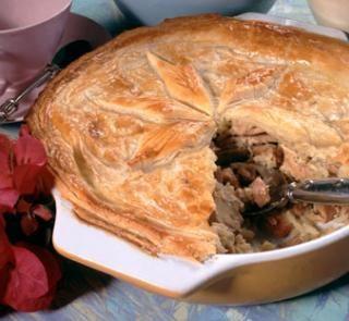 Chicken vegetables pie