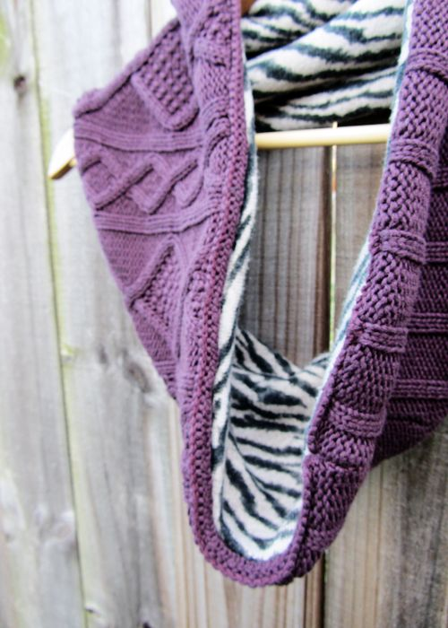 upcycled sweater circle scarf :: stuff steph does