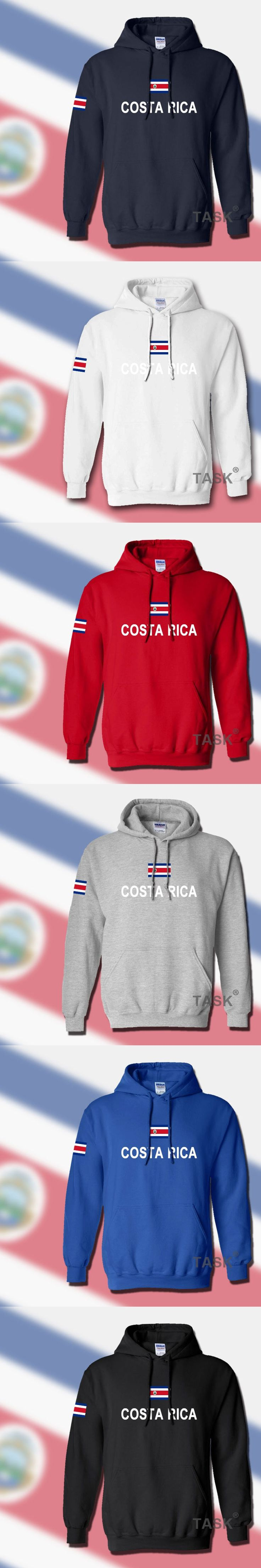 Costa Rica hoodies men sweatshirt sweat new hip hop streetwear footballer sporting tracksuit nation 2017 CRI Costa Rican Tico