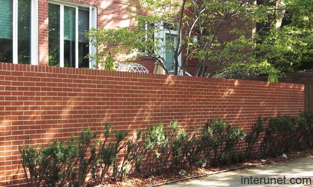 brick fence | Rustic fence, Fence landscaping, Easy fence