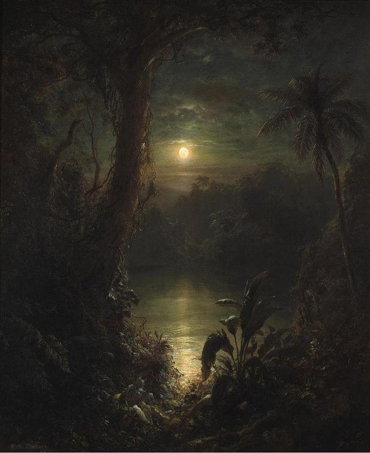 Frederic Edwin Church (1826-1900)  Twilight in the Tropics (A tropical moonlight) , 1874