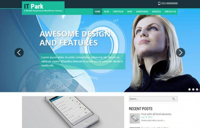 ITPark - #Free #Wordpress theme with professional and technology look.Designed for #IT and infrastructure companies.