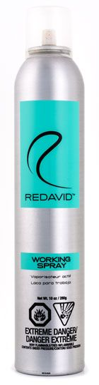 WORKING SPRAY: The latest in spray technology | http://www.redavidhair.com/products/working-spray/