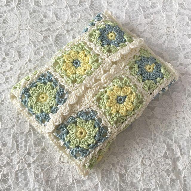 受注生産*レモンライム色のお花いっぱいティッシュケース