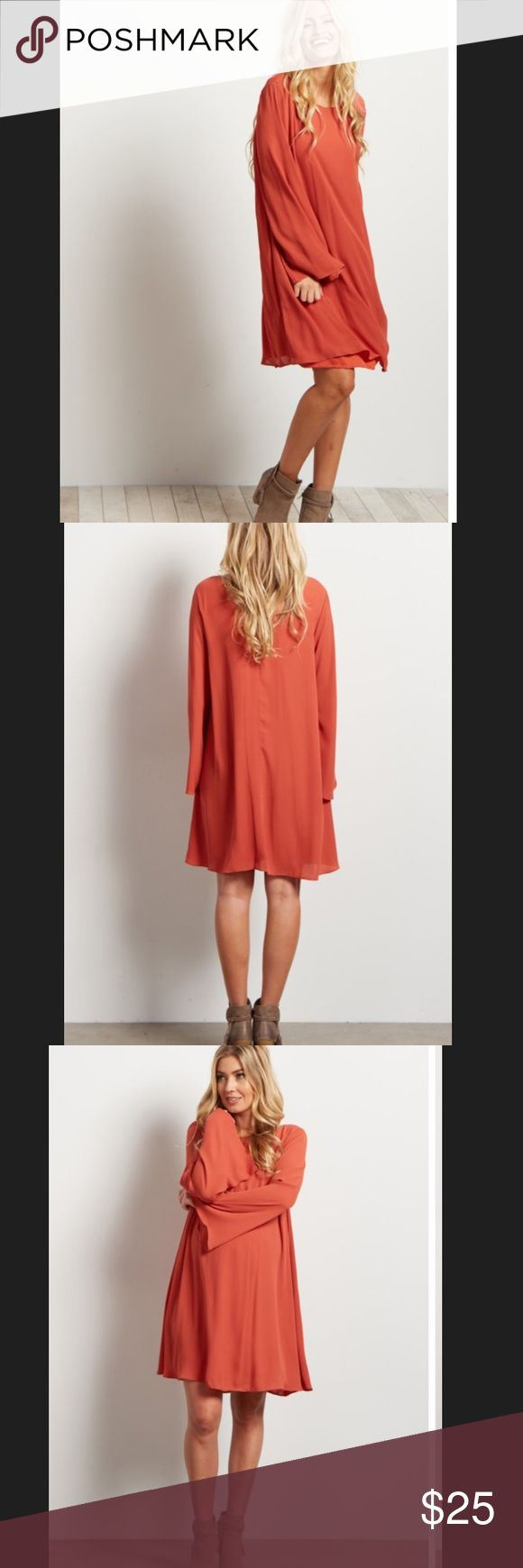 Best 25 maternity sleeved dresses ideas on pinterest maternity orange chiffon bell sleeve maternity dress ombrellifo Image collections