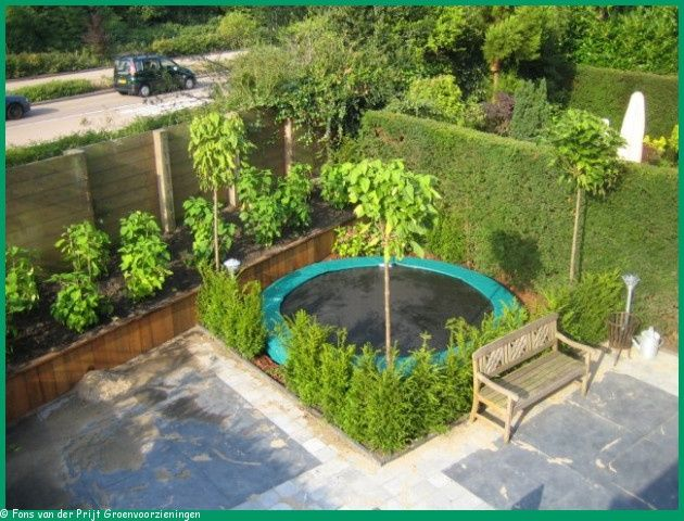 small garden with trampoline google search backyard pinterest small gardens trampolines and google search - Garden Design With Trampoline