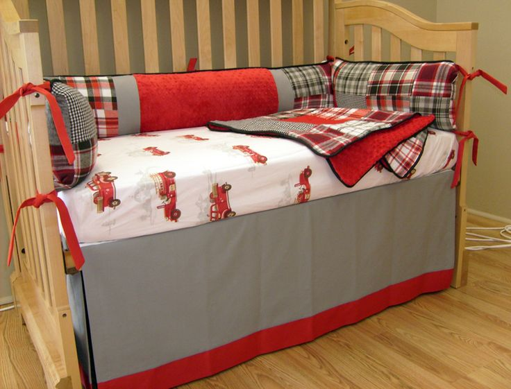 Firetruck Custom Bedding - Wee Dreamscapes