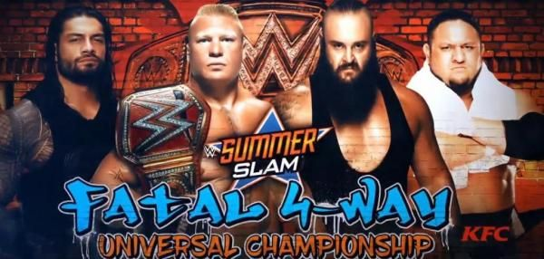 General manager Kurt Angle announced Brock Lesnar's SummerSlam opponents Monday on Raw including Roman Reigns, Samoa Joe and Braun Strowman.