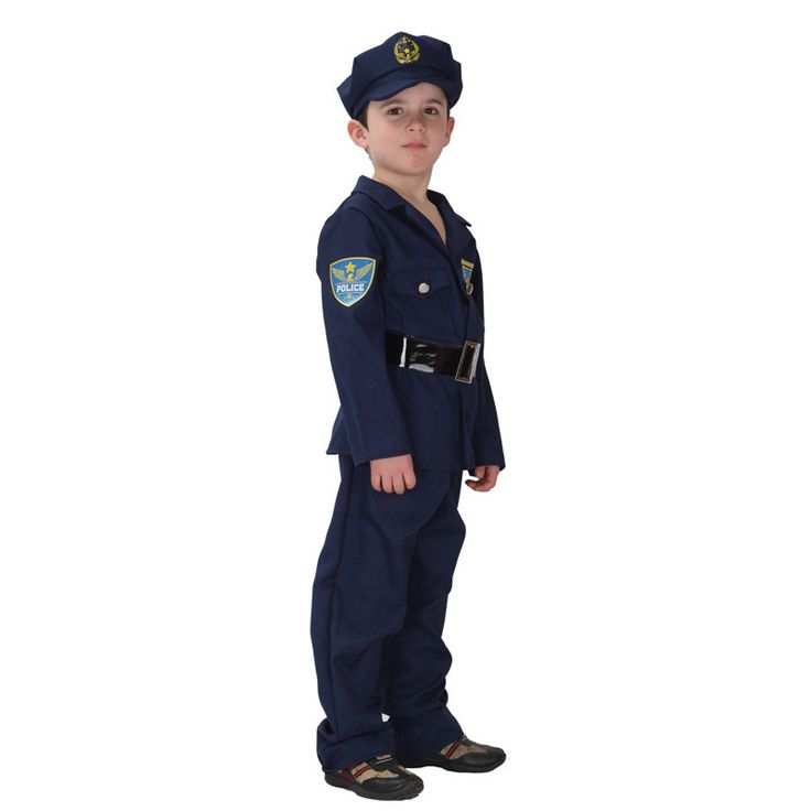 Kids' Police Officer Costume Set with Uniform & Accessories