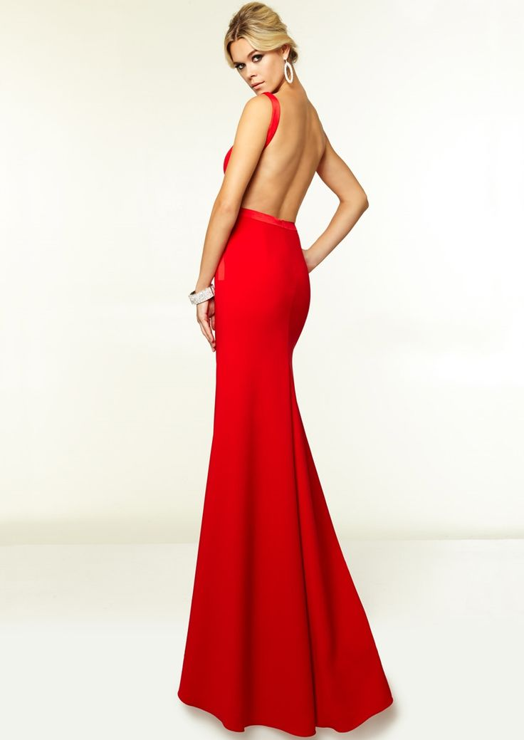 Custom Made Red Halter Neck Sexy Lace Backless Prom Dresses Formal