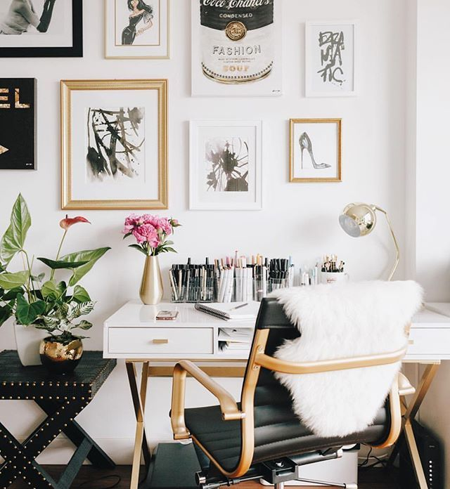 Home Interior Themes: Black ️ Gold Office Chairs Are Available In The Shop Also