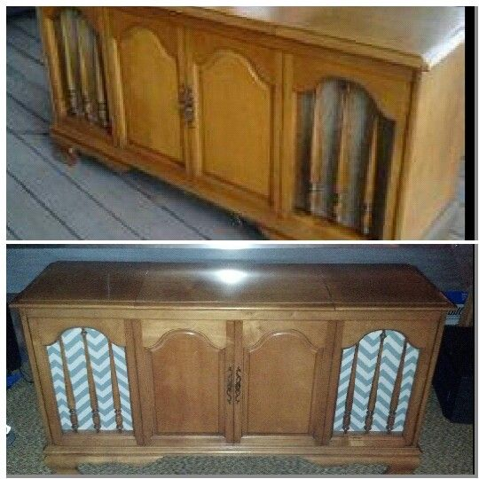 Before and after stereo console.   Upcycled / Repurposed ...