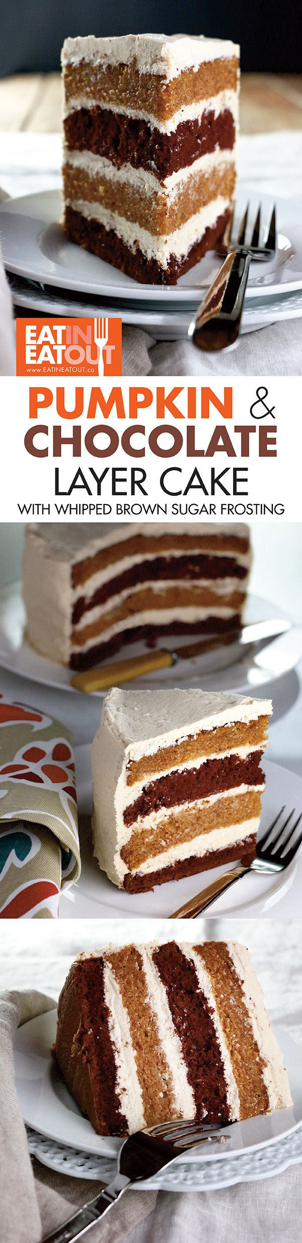 Two different cakes come together in the perfect union! Perfectly #yummy for #Thanksgivng