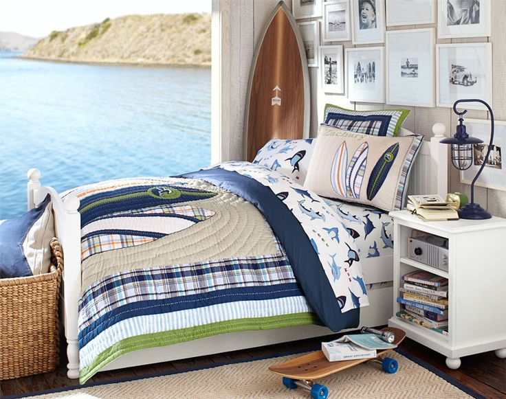 Boys room with beachy allure pottery barn kids