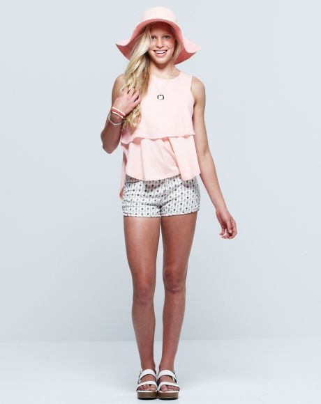PAVEMENT BRANDS - LACEY TOP + LILLY FLORAL DENIM SHORT