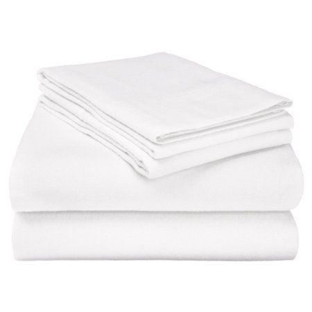 Superior Flannel Quality Cotton Paisley Sheet Set, White