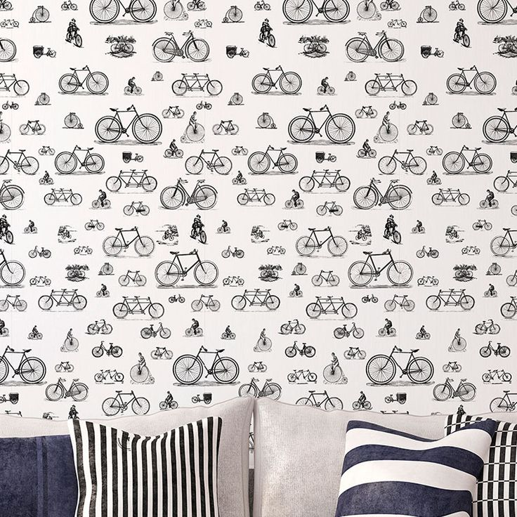 Repositionable Wallpaper Bikes Chispum